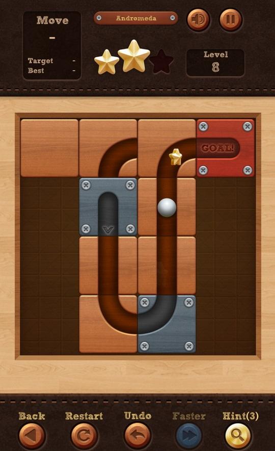 ロール ボール:スライド パズル