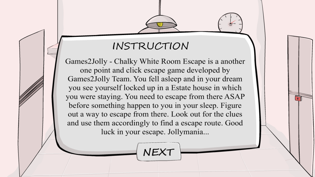 CHALKY WHITE ROOM ESCAPE